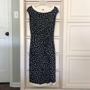 Ralph Lauren Black And White Patterned Dress